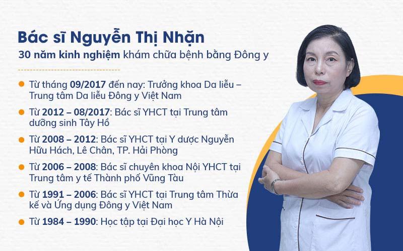 Chân dung bác sĩ Nguyễn Thị Nhặn - Trưởng khoa Da liễu Trung tâm Da liễu Đông y Việt Nam