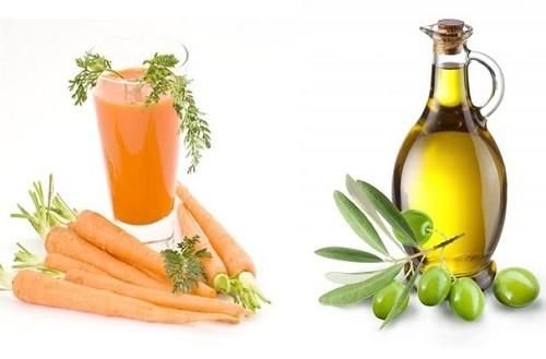 Cách trị nám da ở lưng bằng cà rốt và dầu ô liu