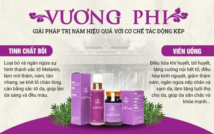 Bộ sản phẩm hỗ trợ điều trị nám, tàn nhang Vương Phi