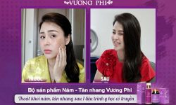Hình ảnh diễn viên Lương Thu Trang TRƯỚC và SAU sử dụng bộ sản phẩm Vương Phi
