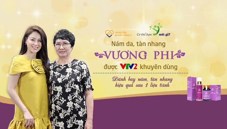 Bộ sản phẩm Vương Phi được VTV2 giới thiệu là giải pháp trị nám da, tàn nhang an toàn, hiệu quả toàn diện